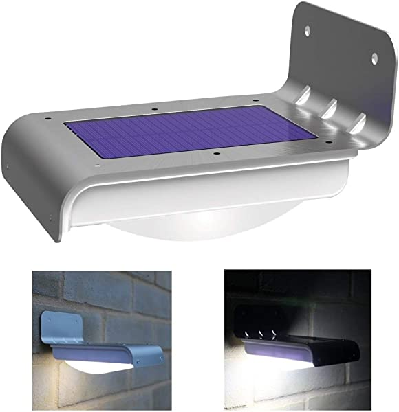 Frostfire 16 Bright LED Wireless Solar Powered Motion Sensor Light Weatherproof No Batteries Required