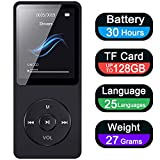 Aigital MP3 Player 16GB, Portable Hi-Fi Music Player With Headphone FM Radio Voice