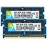 DUOMEIQI 8GB Kit (2 X 4GB) 2RX8 PC3L/ PC3-12800 PC3L/ PC3-12800S DDR3L DDR3 1600MHz so-dimm CL11 204Pin 1.35v / 1.5v Upgrade Notebook Memory Laptop ram Non-ECC Unbuffered for Intel AMD Computer