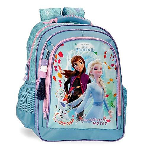 Frozen Awesome Moves Mochila Escolar Doble Compartimento, Azul