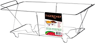 Tiger Chef Full Size Chrome Wire Frame Chafer Stand Steam Table Buffet Chafer Food Warmer Rack Chafing Dish Food Warmer Stand for Chafing Dishes Stand - Full Size (12 Pack) (Renewed)