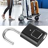 Lantuqib Candado de Huellas Dactilares, Conveniente de Usar Alta confiabilidad Fácil de Transportar Cerradura de Seguridad para almacén para Oficina
