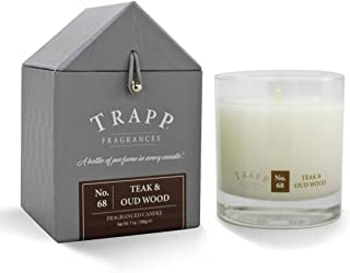 Trapp Signature Home Collection No. 68 Teak & Oud Wood Poured Scented Candle, 7-Ounce