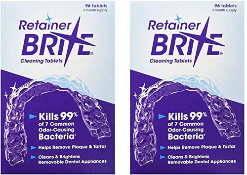 Retainer Brite Retainer brite -6 months supply- 2 boxes pack -192 tablets, 192 Count