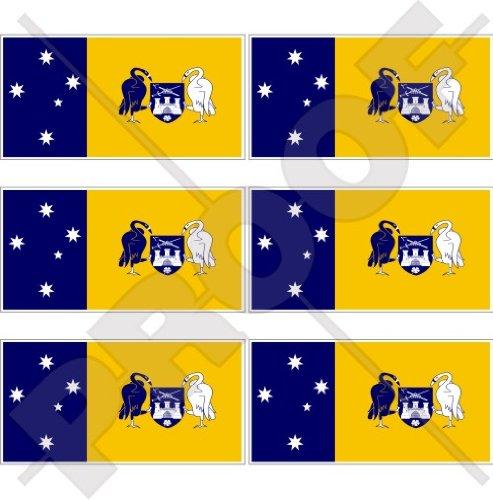 Vinyl-Mini-Aufkleber, Motiv: australische Flagge von Canberra, 40 mm, 6 Stück