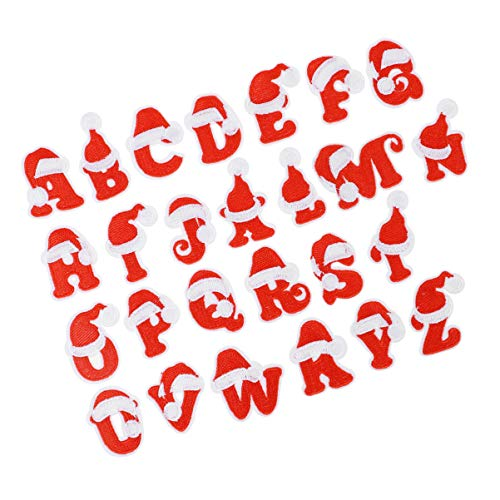 EXCEART 26 Piezas de Parches Navideños Apliques de Letras A-Z Parches Bordados...