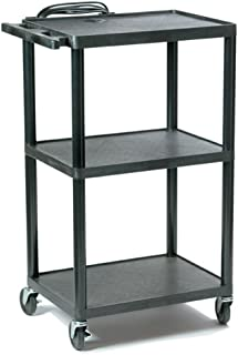 HamiltonBuhl Plastic AV Cart Adjustable from 16