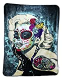 Ardras Art Collective Marilyn Monroe Dia De Los Muertos Queen Mink Quality Blanket