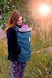 manduca MaM - Funda para portabebés (softshell elástico con forro interior de felpa), color azul y negro