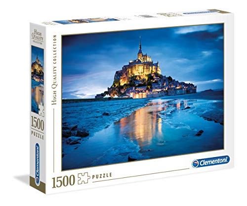 Clementoni-Le Mont St.Michel di Notte High Quality Collection Puzzle, 1500 Pezzi, 31994