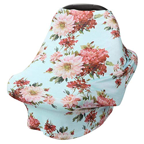 Nursing Cover Breastfeeding Scarf - Baby Car Seat Covers, Infant Stroller Cover, Carseat Canopy for Girls and Boys by YOOFOSS (Dahlia)