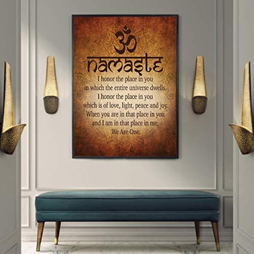 Danjiao Cita De Yoga Espiritual Motivacional Budista Namaste Impresión Y Póster Lienzo Pintura Para Decoración Del Hogar Sala De Estar Decor 40x60cm