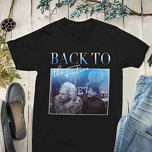 Ba-Ck to The Fu-Ture 80S Movie Mic-Hael J Fo-X Unisex Vintage Homage T Shirt Short Sleeve Classic Graphic Tee for Kids, Men and Women