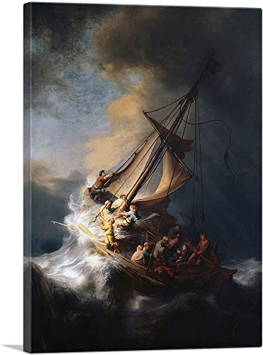 ARTCANVAS The Storm on The Sea of Galilee 1633 Canvas Art Print by Rembrandt Van Rijn 40 x 26 product image