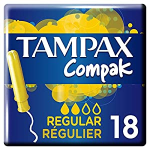 Tampax Compact Regular Tampons with Applicator