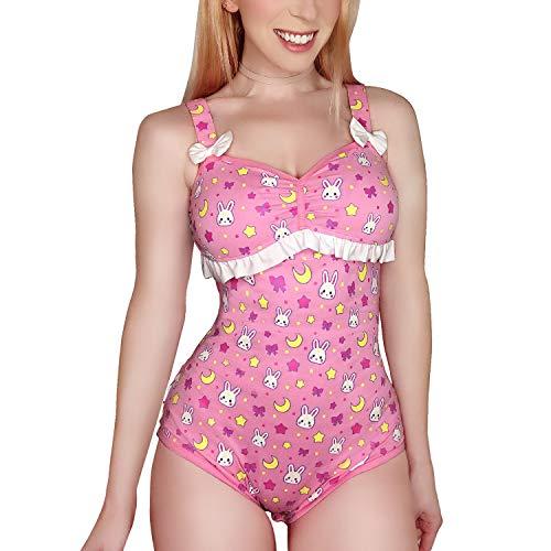LittleForBig Body Algodón Pelele Onesie Pijama Mono-Usagi Moon XXXL