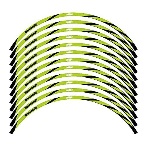 Etiqueta reflectante Decoración de la decoración de la rueda de la motocicleta para Ninja 400 650 250