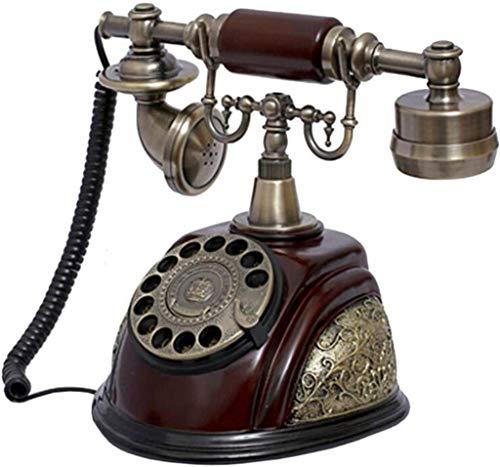 DHFDHD Teléfono Antiguo Formado-Casa Antigua teléfonos de Disco Retro con Cable Tonos de Llamada Manos Libres Rellamada Oficina Teléfono con Cable