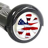 Mightyskins Skin Compatible With Hover Balance Board Scooter Wheels Mini Board Unicycle Bluetooth Wrap Cover Sticker American Flag