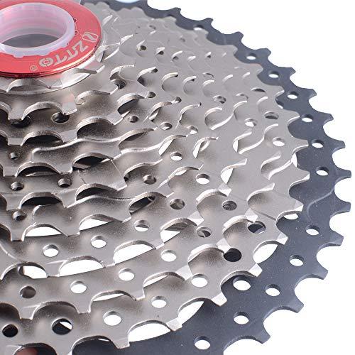 Festnight 11-42T 10 Vitesse 10s Grand Ratio Sunrace pour Bicyclette Vélo VTT Engrenages Pignon Cassette dans Région Montagneuse et Autoroute