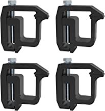 iFJF Mounting Clamps Truck Caps Camper Shell Powder-Coated fit Chevy Silverado Sierra 1500 2500 3500,Dodge Dakota Ram 1500 2500 3500,Ford F150 F250,Nissan Titan,Toyota Tundra Set of 4 (Black)