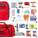 Complete Earthquake Bag - Emergency kit for Earthquakes, Hurricanes, Wildfires, Floods + Other disasters (6 Person, 3 Days)
