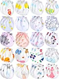 Newborn Baby Cotton Gloves Infant Toddler No Scratch Mittens Unisex Baby Mitts for 0-6 Months Baby Boys and Girls (20 Pairs)