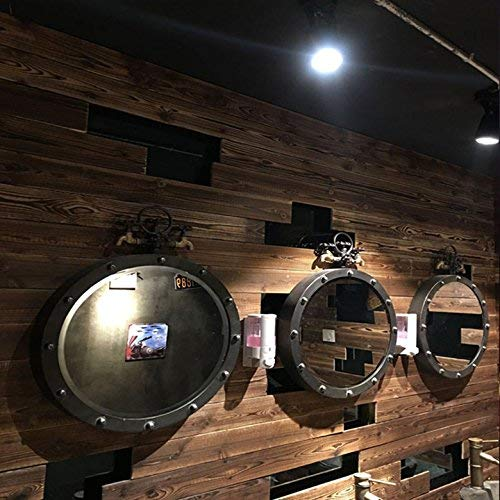 Handwerk van metaal met Amerikaanse versieringen in retro-look, spiegels, bar ristorante ornamenten van metaal 50 x 65 x 5 cm