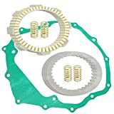 Caltric Clutch Friction Plates and Gasket Kit Compatible With Honda TRX250 Recon 250 2X4 1997 1998 1999 2000 2001