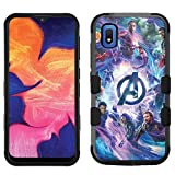 for Samsung Galaxy A10e Case, Galaxy A10e Hard+Rubber Dual Layer Hybrid Heavy-Duty Rugged Impact Cover Case - Avengers #M
