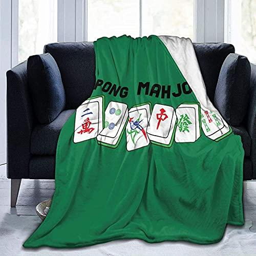 Manta de vellón Mahjong, Manta de Microfibra Ultra Suave para Mantas y Mantas de sofá de Dormitorio, 60 'x 50'
