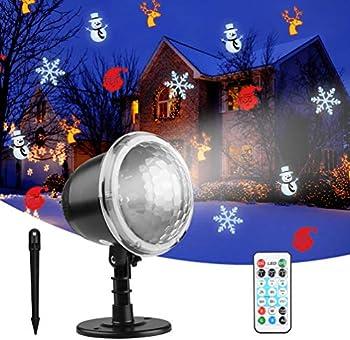 Outul Indoor Outdoor Waterproof LED Snowfall Projector