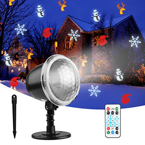 Christmas Light Projector, YIVAR Snowflake Projector Light IP65 Waterproof...