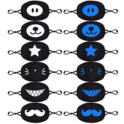 CIKIShield 6 Pack Face Mask Cover for Kids Boys and Girls Black