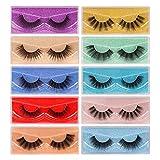 Faux Mink Eyelashes Wholesale 10 Styles 60 Pairs 3D Lashes Bulk with Portable Boxes