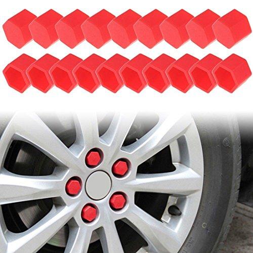 Larcele Silicone Roue Lug Nut Covers 21mm 20 Pièces lsbht-01 (Rouge)