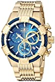Invicta Men's Bolt Quartz Watch with Stainless-Steel Strap, Gold, 30 (Model: 25866)