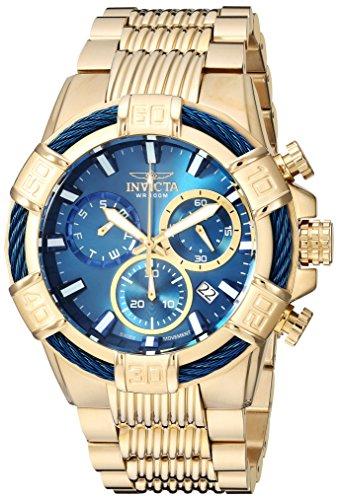 Invicta Men's Bolt 51mm Gold Tone Stainless Steel Chronograph Quartz Watch, Gold (Model: 25866)
