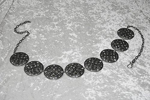 Dark Dreams Gothic Mittelalter LARP Gewandgürtel Fleur altsilber, Länge:110 cm - 5
