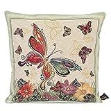 Emily Home Cuscino Arredo per Divano Butterfly in Gobelin 45 x 45 cm