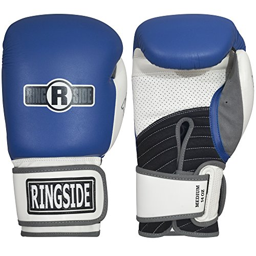 Blue, white and black boxing gloves