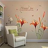 Beautyjourney Autocollant De Mur De Fleur DéCalque Amovible Home Decor Bricolage Art DéCoration Stickers...