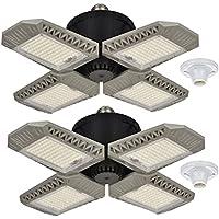 2-Pack Homelazy 100W Deformable LED Garage Light