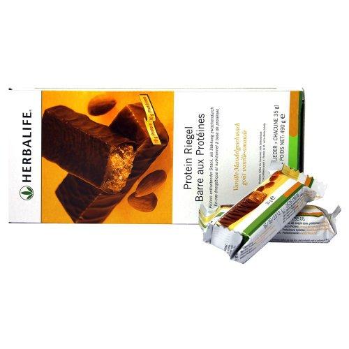 HERBALIFE Barritas con proteinas - Vainilla y almendras - 14 piezas de 490 g
