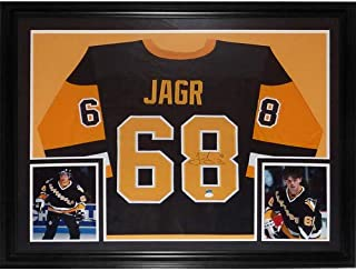 Jaromir Jagr Autographed Signed Auto Pittsburgh Penguins Black #68 Deluxe Framed Jersey TSE - Certified Authentic