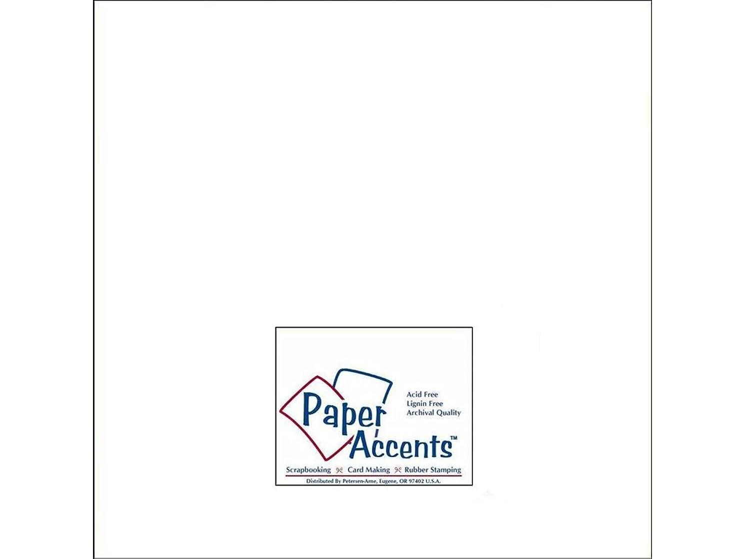 Accent Design Paper Accents ADPaperParchment12x12White Cdstk Parchment 12x12 65# White