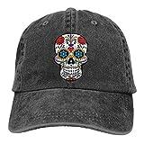Mixcder Skull Customized Unisex Jeans Adjustable Baseball Cap Cotton Denim Dad Hat