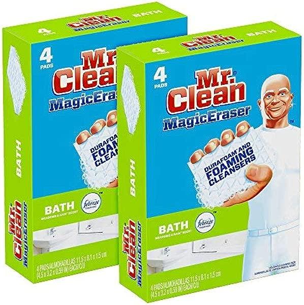 Mr Clean Magic Eraser Bath Cleaning Pads With Durafoam Meadows Rain 8 Count