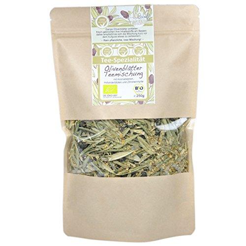 direct&friendly Bio Olivenblätter Teemischung mit Olivenblättern, Aroniabeeren, Holunderblüten und Zitronenmyrte (250 g)