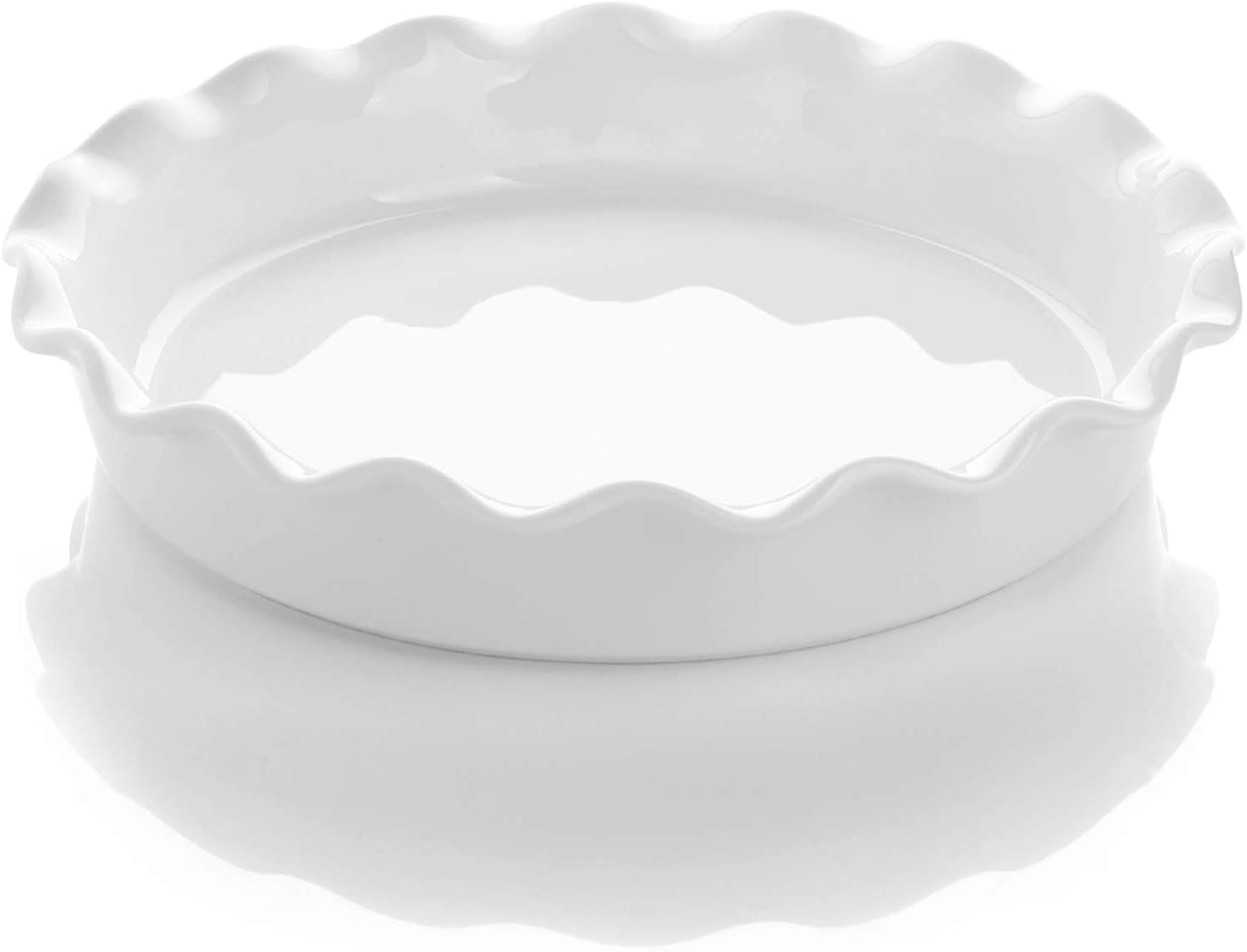 Sweese 518.101 Porcelain Ranking Max 48% OFF TOP19 Pie Pan Round wi Plate Baking Dish